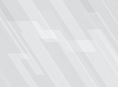 Abstract lines pattern technology on white gradients background.