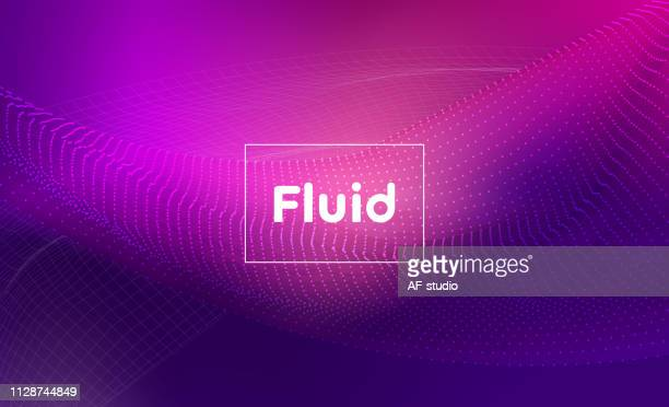 abstract liquid background - purple stock illustrations