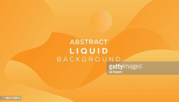 abstract liquid background - orange background stock illustrations