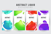 Abstract liquid banner background template