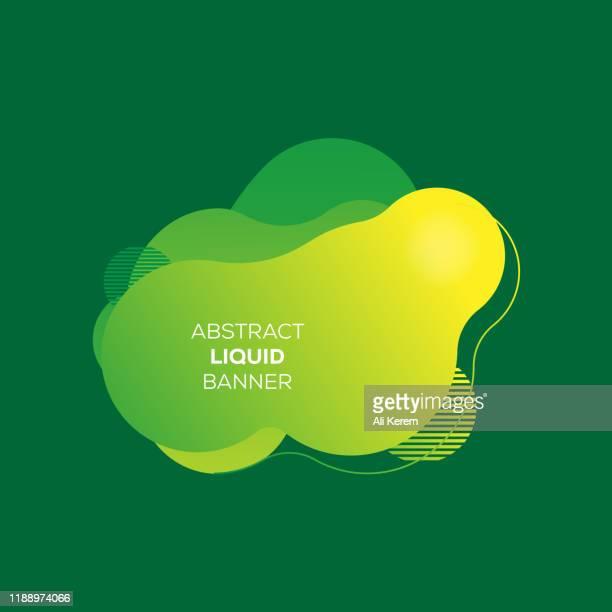 abstrakte flüssige banner - flüssig stock-grafiken, -clipart, -cartoons und -symbole