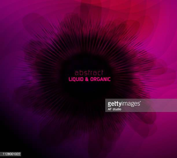Abstract Liquid Organic Background