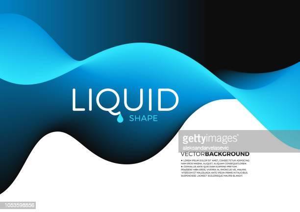 abstract liquid shape background - liquid stock illustrations, clip art, cartoons, & icons