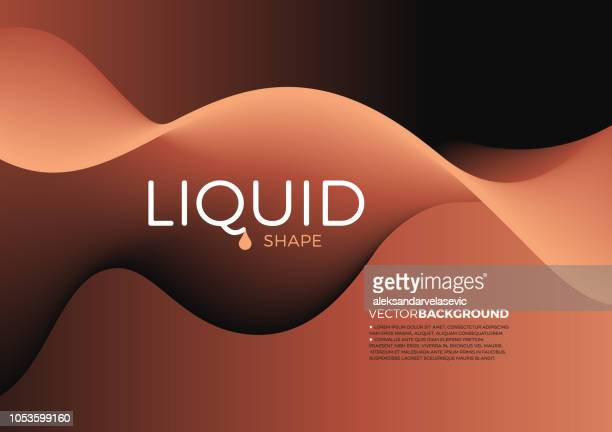 abstract liquid shape background - brown stock illustrations