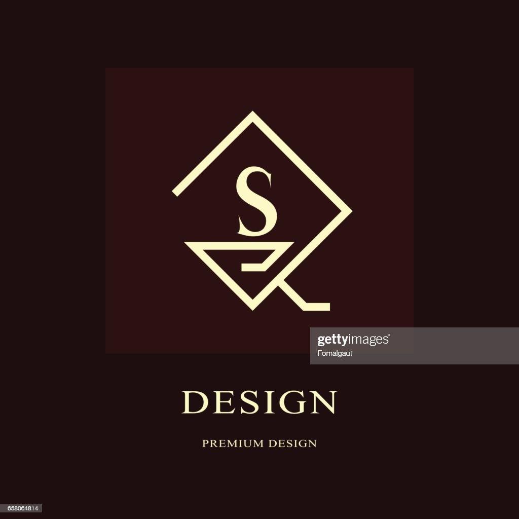 Creation De Logo Abstrait Monogramme Luxe Moderne Elements Minimaux Embleme Lettre