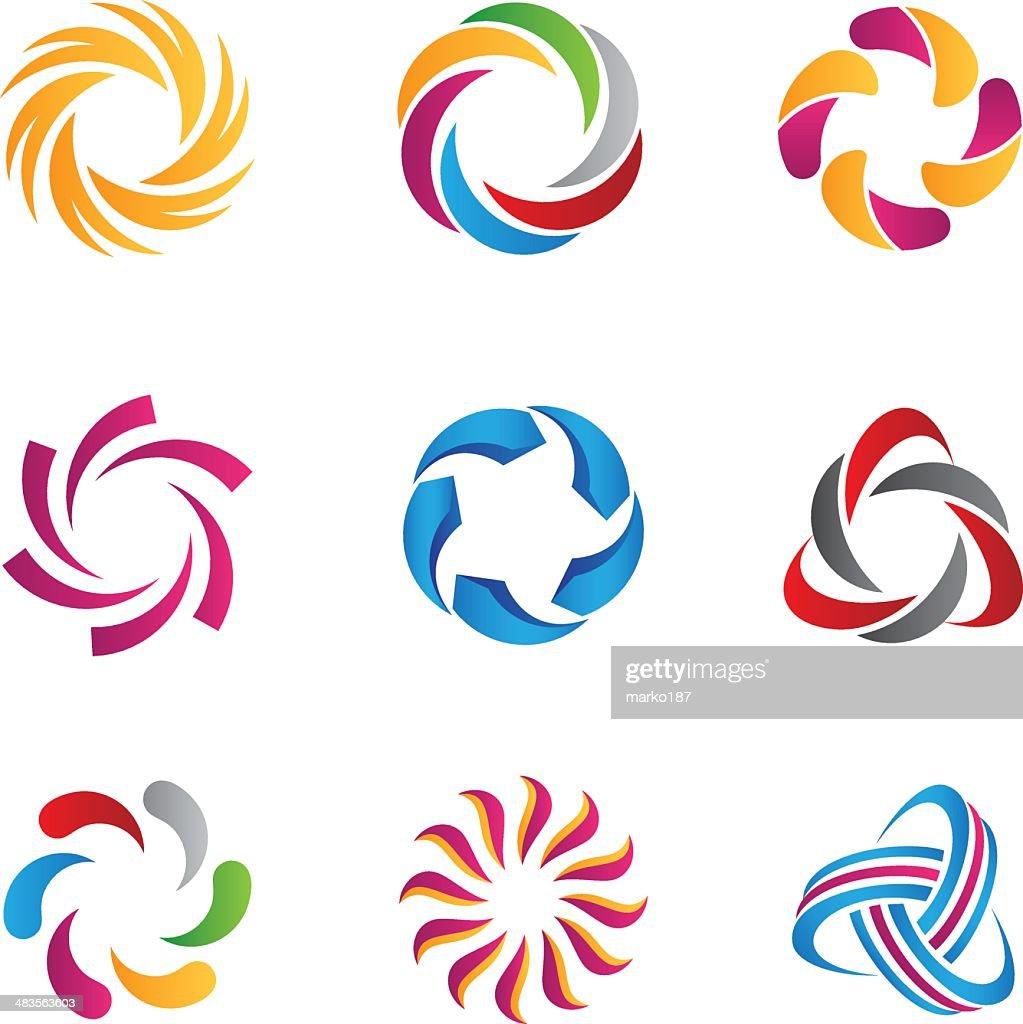 Abstract loop logos and icons