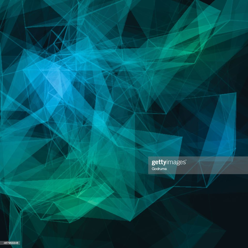 Abstract low poly dark bright technology vector background.