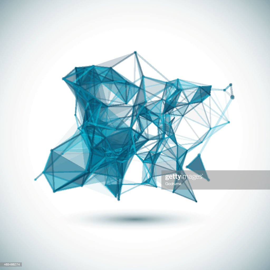 Abstract low poly geometric colorful bright technology vector background.