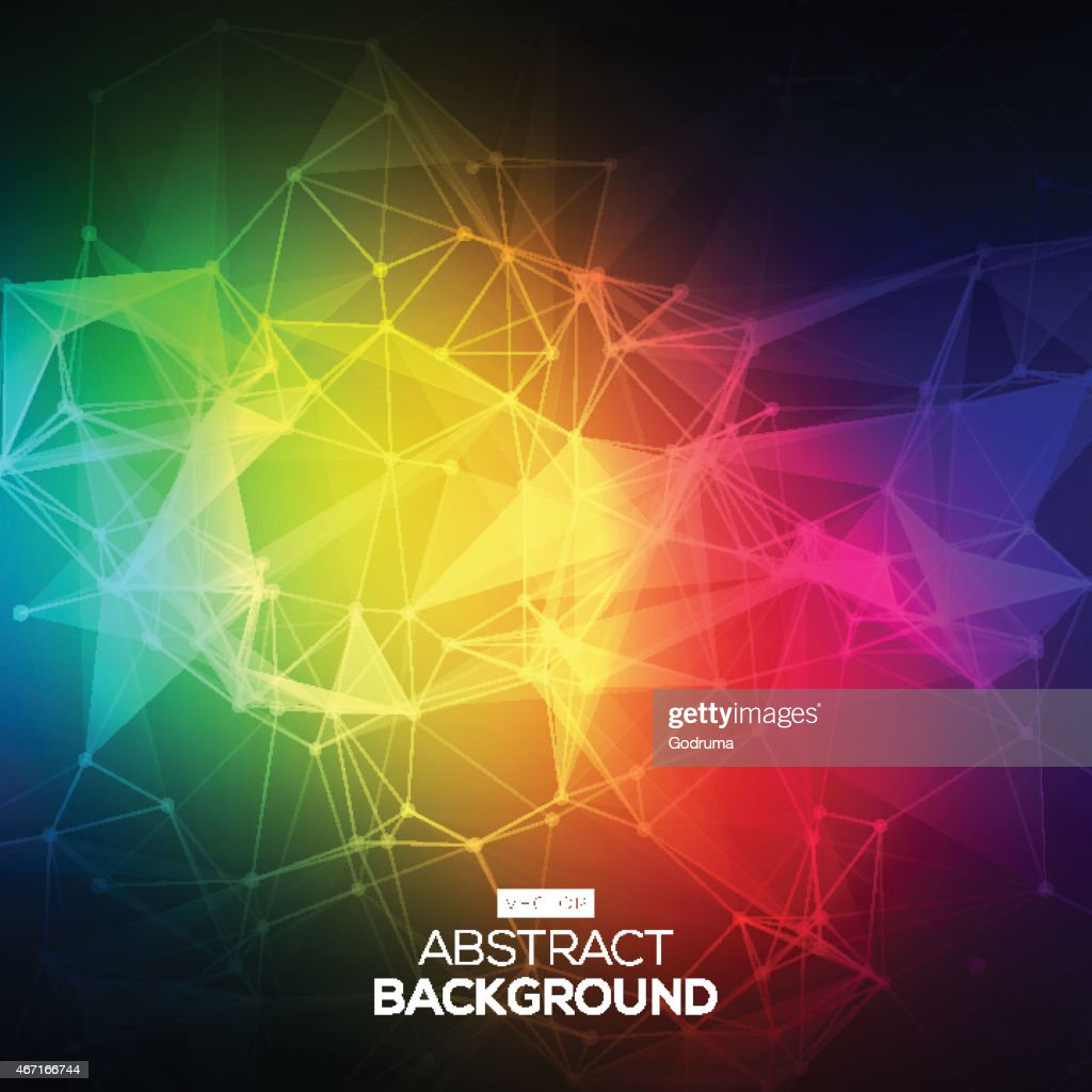 Abstract Low poly, Molecule And Communication Background.