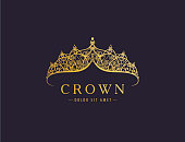Abstract luxury, royal golden company icon vector design.
