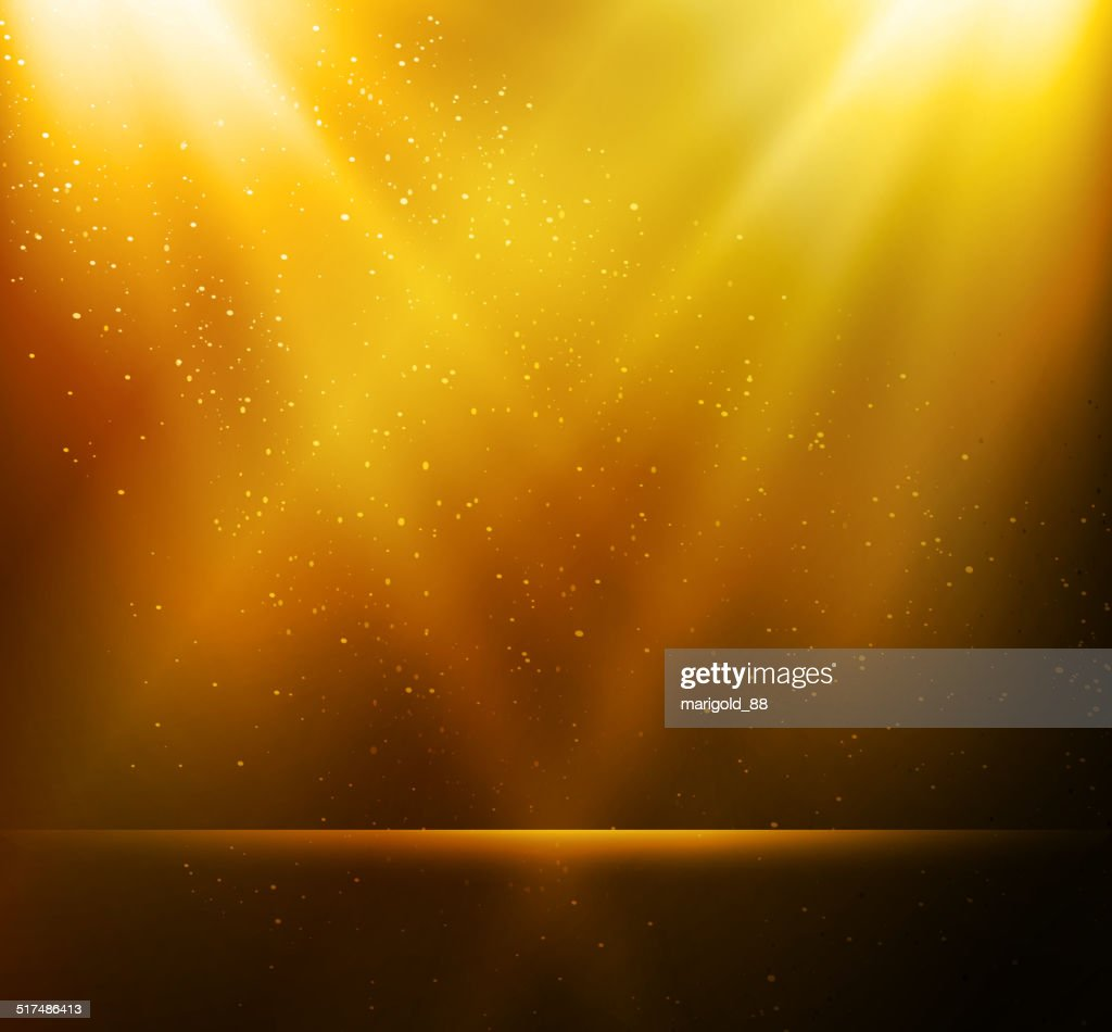 Abstract magic gold light background