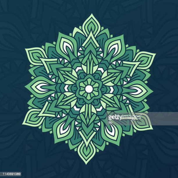 abstract mandala design element - intricacy stock illustrations