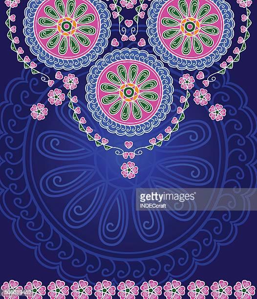 abstract mandala design - mandalas india stock illustrations