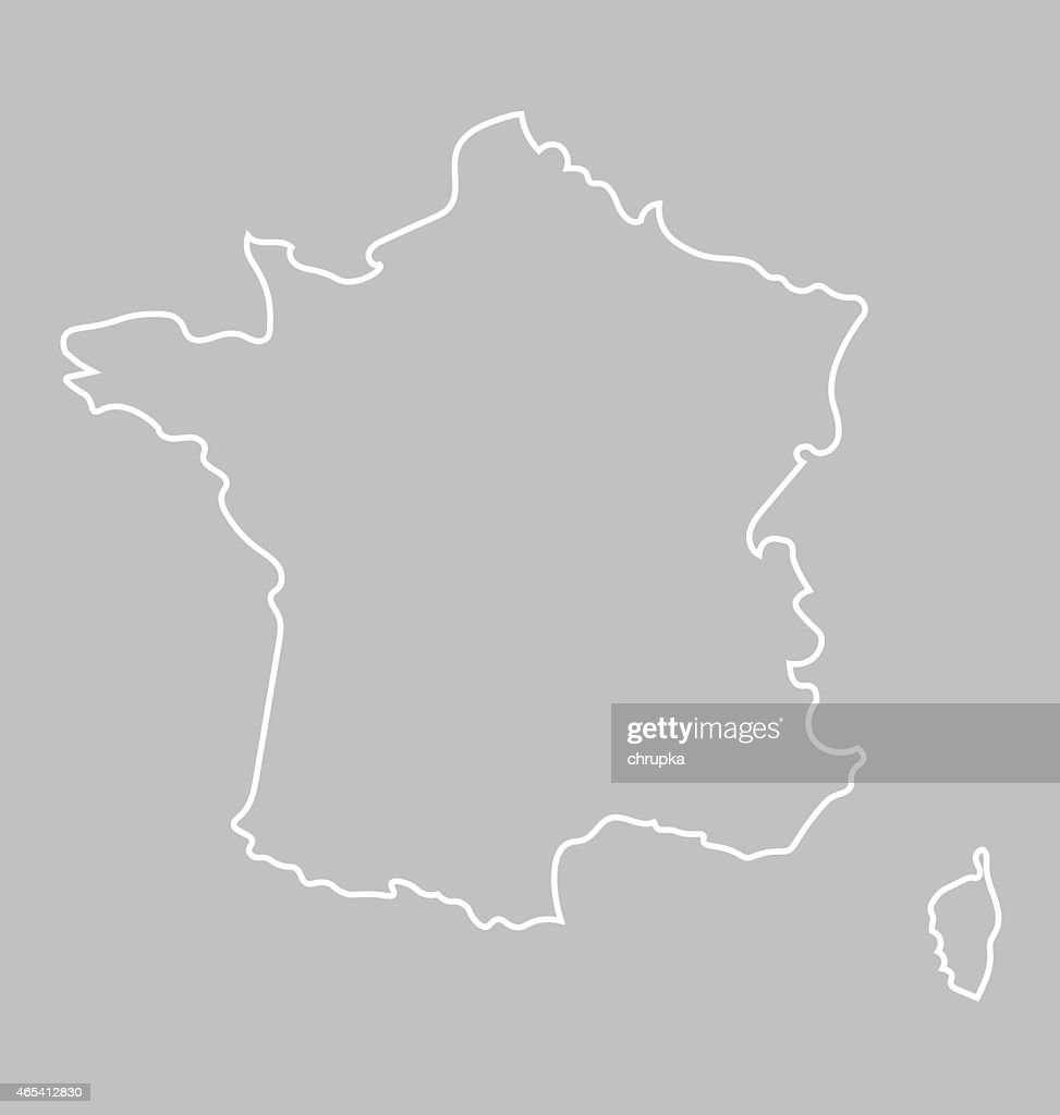 abstract map of France