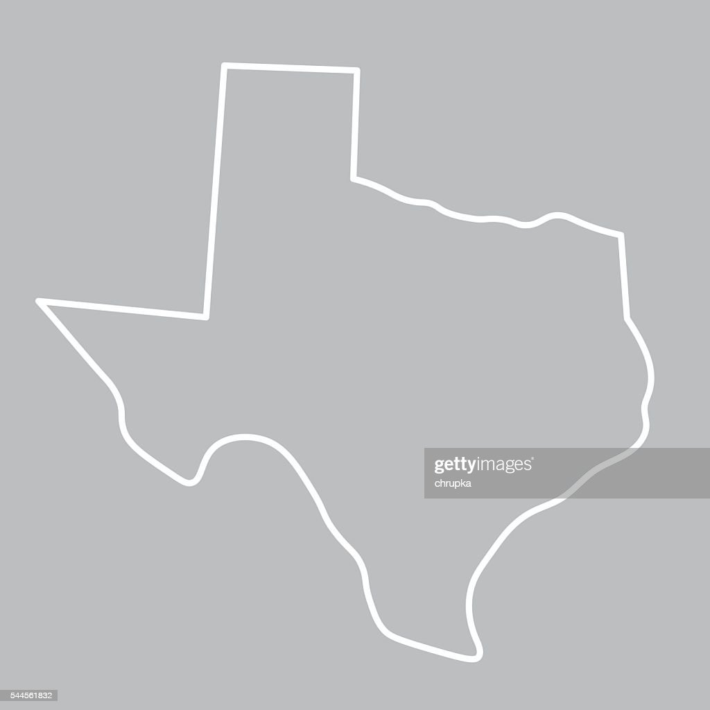 abstract map of Texas