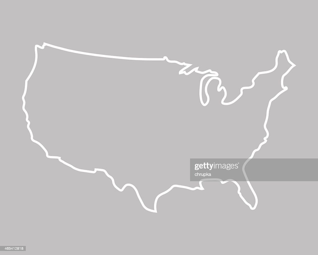 abstract map of United States
