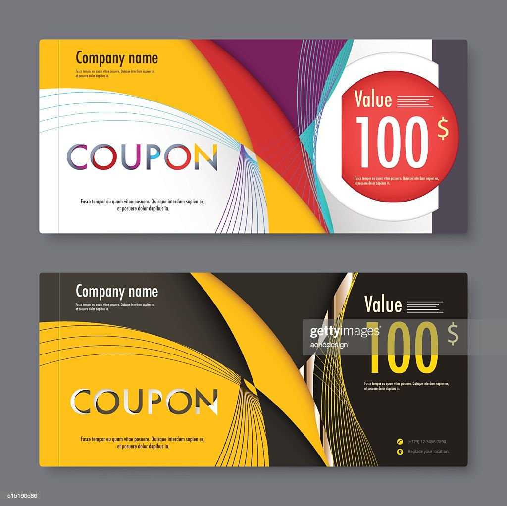 abstract material gift voucher template coupon design vector stock