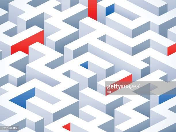 abstract maze background - eternity stock illustrations