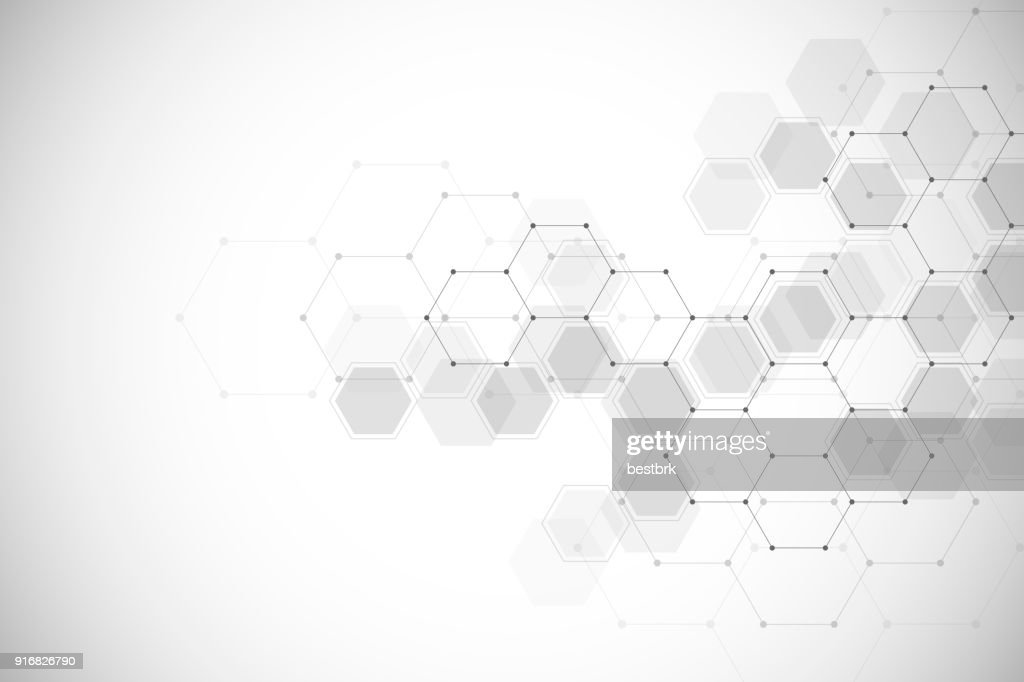 Abstract medical background with molecules structure