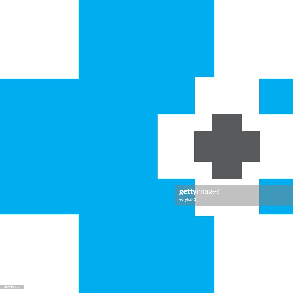 Abstract medical blue pharmacy sign