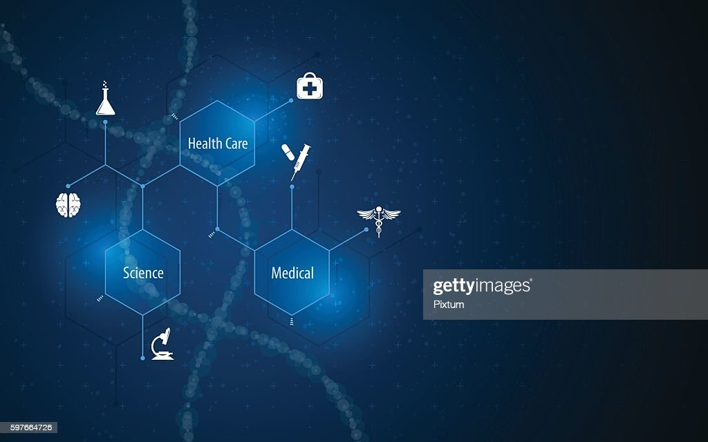 abstract medical health care science concept molecular structure design background