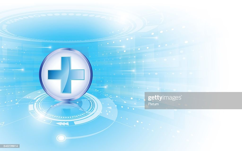 Abstract Medical Health Care Technology Innovation Concept
