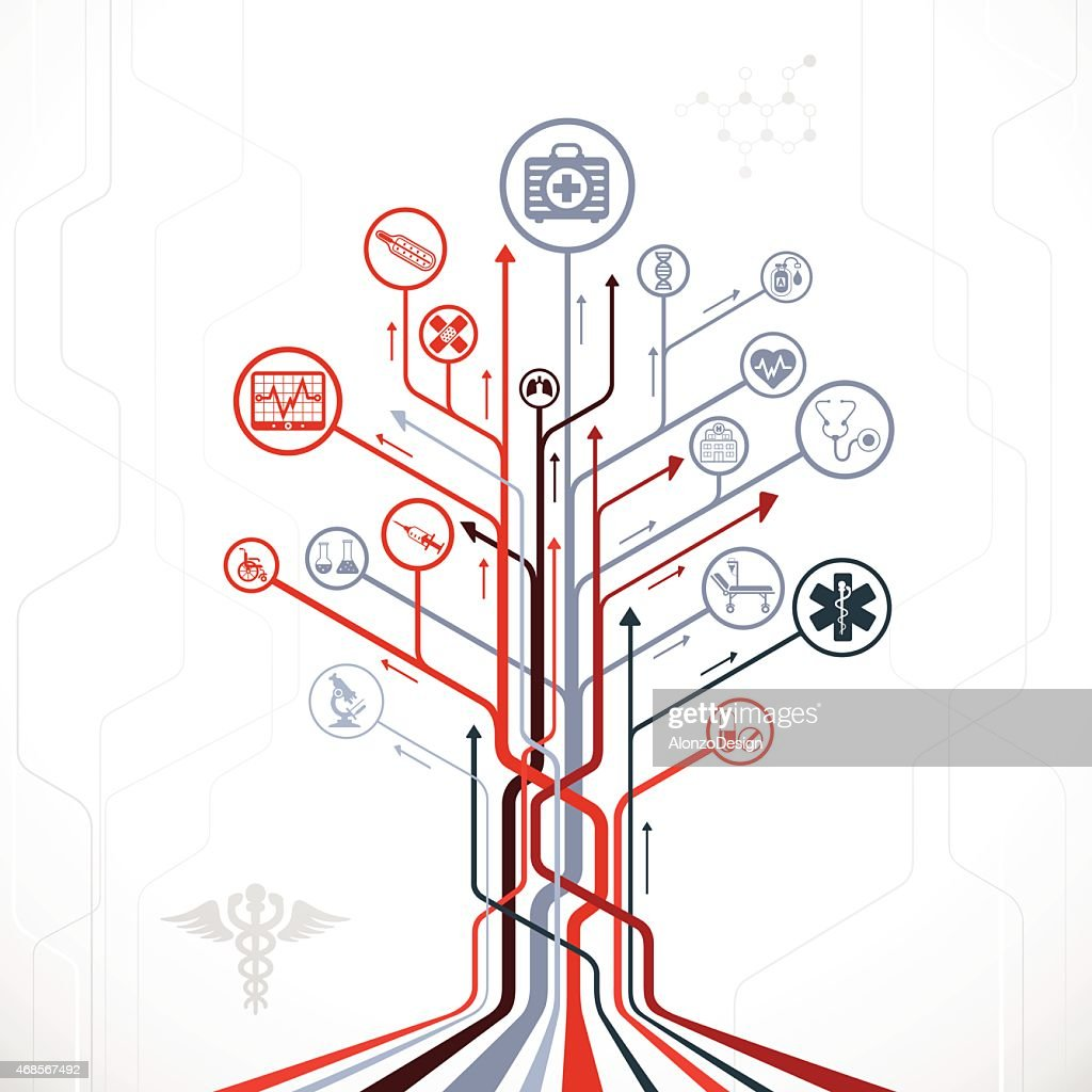 Abstract Medical Tree : stock illustration