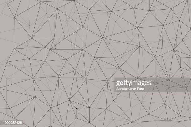 abstract mesh background with circles, lines and shapes - fractal stock illustrations