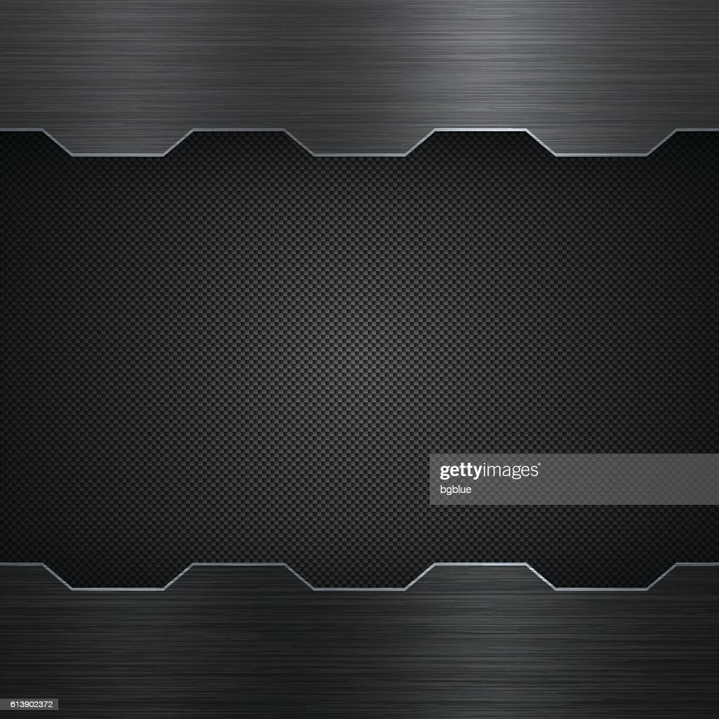 Abstract Metal Background - Carbon Fiber Texture : Stock-Illustration
