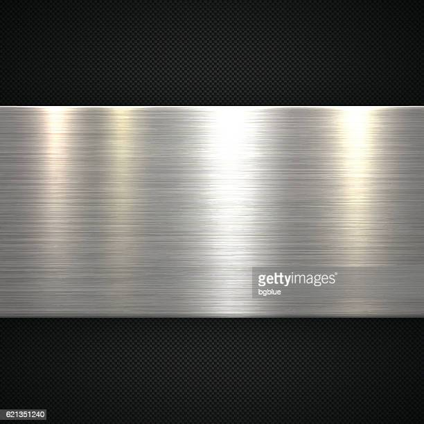 abstract metal background - carbon fiber texture - sheet metal stock illustrations, clip art, cartoons, & icons
