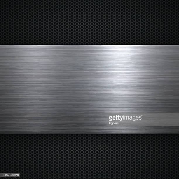abstract metal background - metal stock illustrations