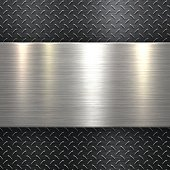 Abstract Metallic Background - Metal Diamond Plate in Black Color
