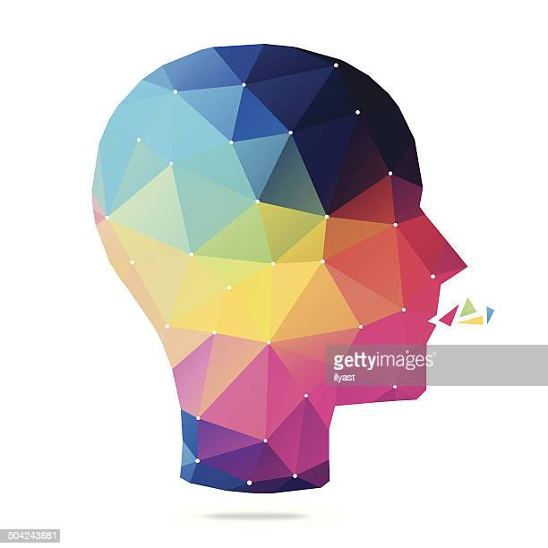 abstract mind - patience stock illustrations