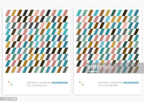abstract minimalistic geometrical stripe design vector pattern background - geometric shape stock illustrations
