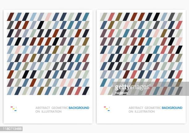 abstract minimalistic geometrical stripe design vector pattern background - zigzag stock illustrations