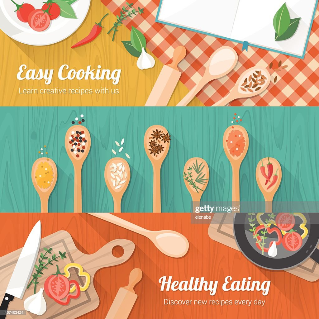 Abstract mockup of food and cooking flyer