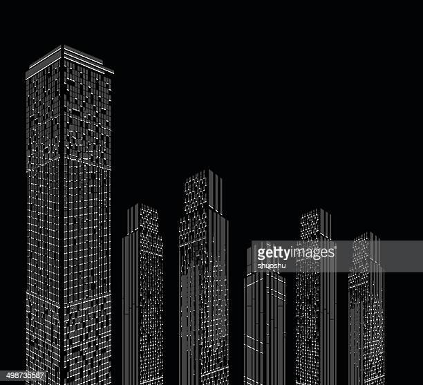 abstract modern city building pattern background - landscaper professional stock illustrations, clip art, cartoons, & icons