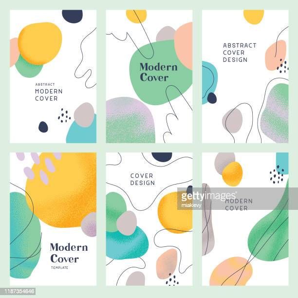 stockillustraties, clipart, cartoons en iconen met abstracte moderne cover templates - vorm