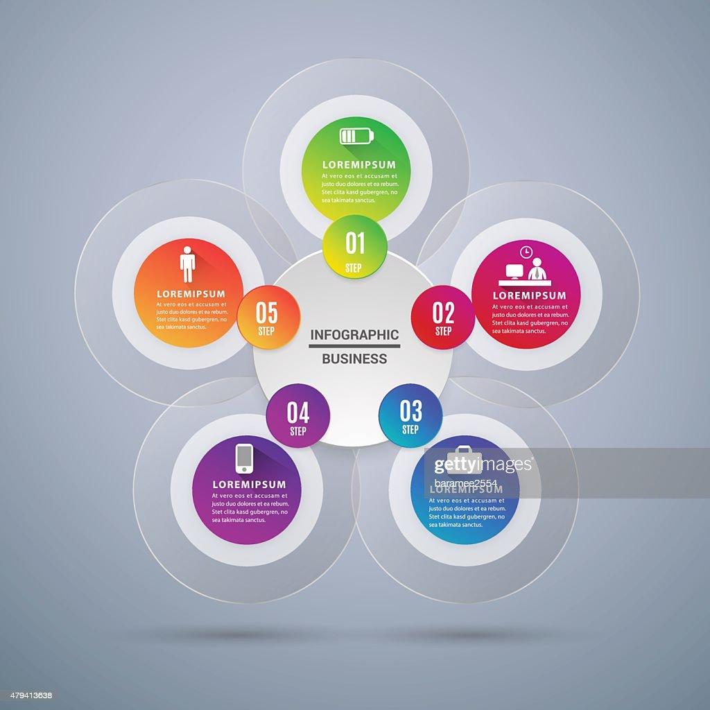 Abstract Modern digital template vector  banner infographics.