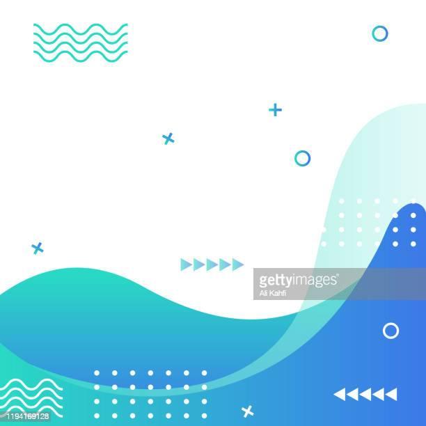 abstrakte moderne geometrische verkauf banner vorlage für web social media promotion editable vector design - handzettel stock-grafiken, -clipart, -cartoons und -symbole