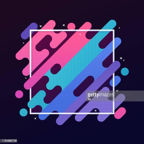 illustrazioni stock, clip art, cartoni animati e icone di tendenza di abstract modern gradient frame - viola colore