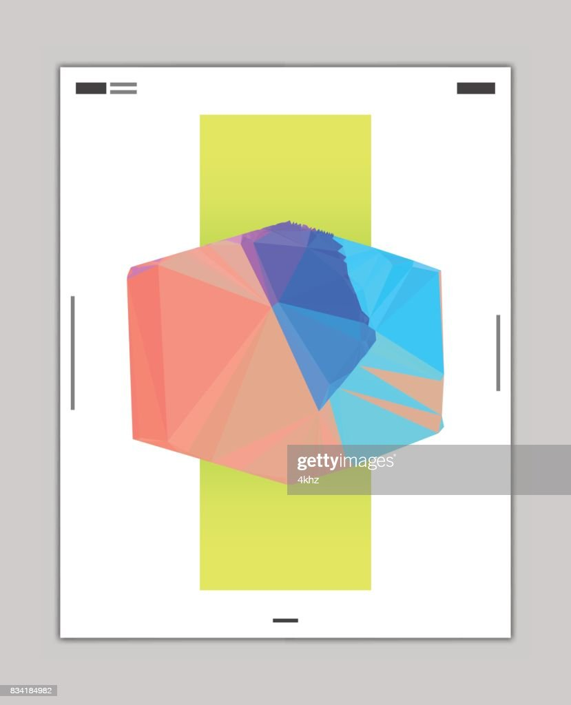 abstract modern graphic design poster layout template vector art