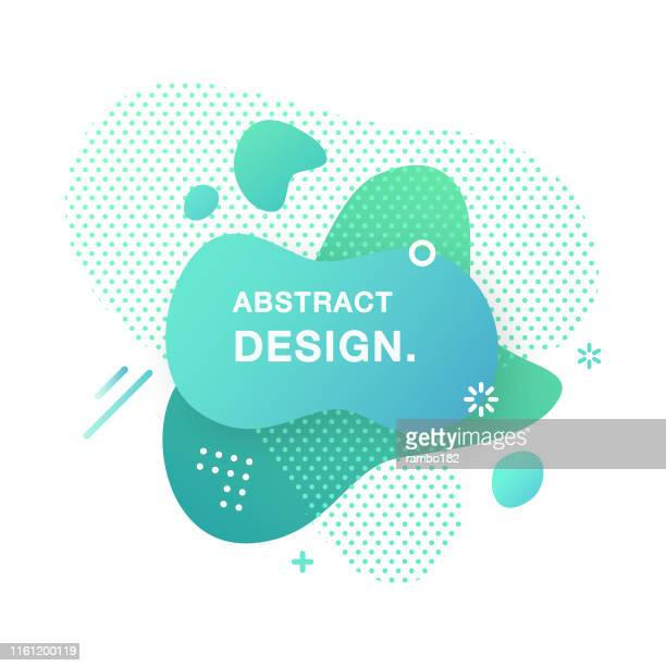 abstract modern graphic element. abstract gradient liquid shape. fluid vector banners. - graphic print stock illustrations