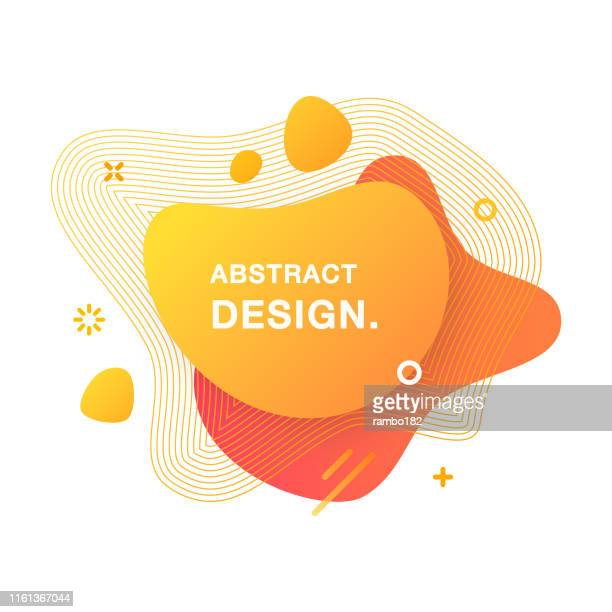 abstract modern graphic element. abstract gradient liquid shape. fluid vector banners. - shape stock illustrations