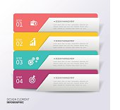 Abstract Modern template vector banner infographics.