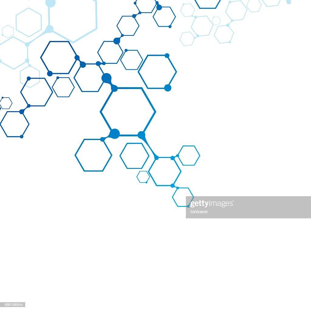 Abstract molecular connection.