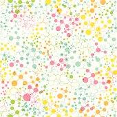 Abstract Molecular Seamless Pattern