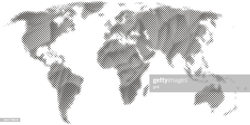 Abstract monochrome world map