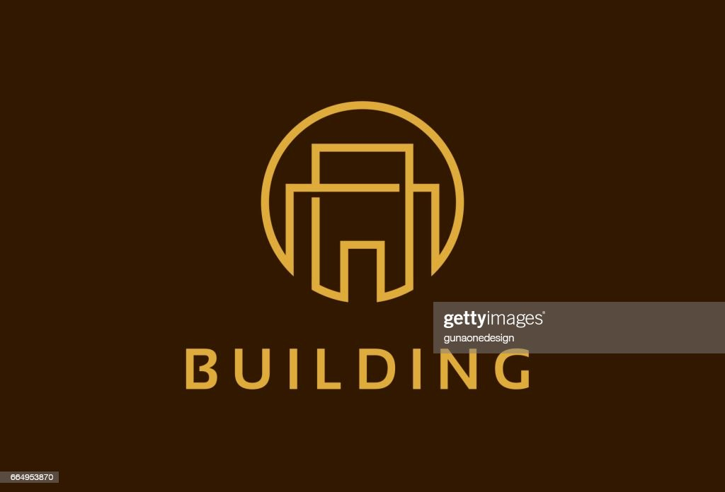 Abstract Monogram Building Property Symbol Template Design Vector, Emblem, Design Concept, Creative Symbol, Icon