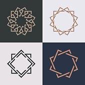 Abstract monogram elegant symbol icon vector design